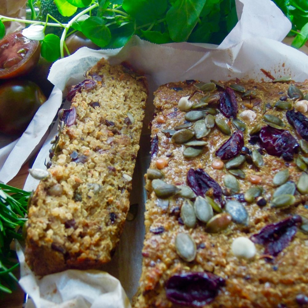 How to make quinoa, olive & caramelised onion loaf
