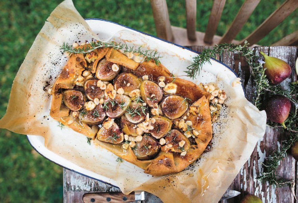 Lee Holmes' fig, hazelnut and goat's cheese tart