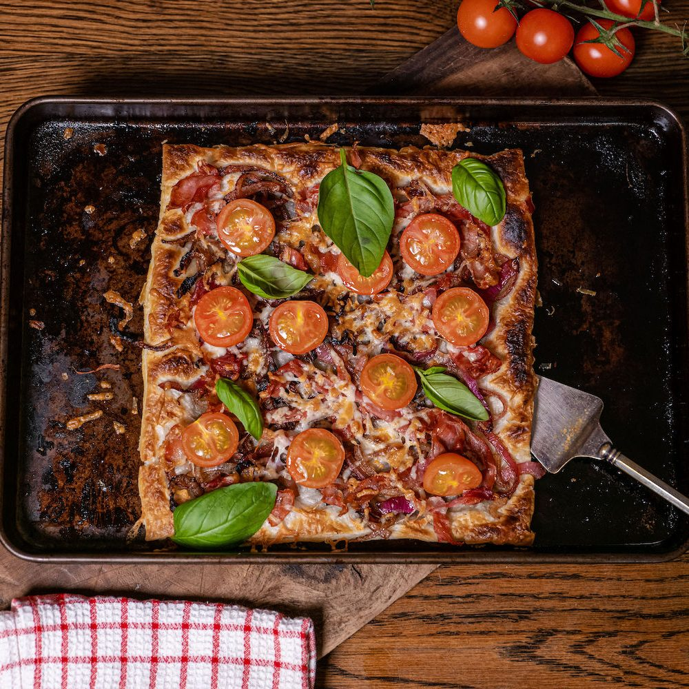 Jamon Serrano caramelized onion pastry